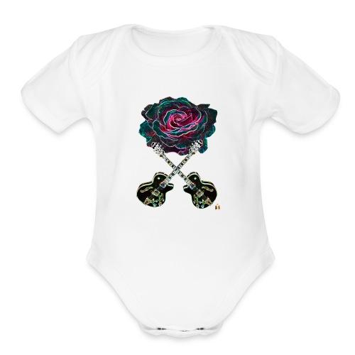 Black Rose - Organic Short Sleeve Baby Bodysuit