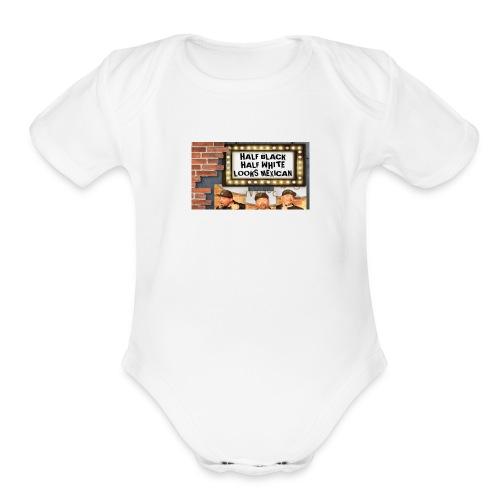 Key Lewis; Marquee - Organic Short Sleeve Baby Bodysuit