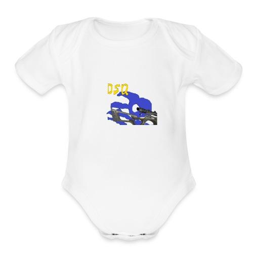 DSQ Logo - Organic Short Sleeve Baby Bodysuit