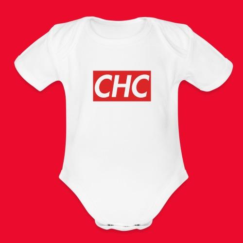 chc logo - Organic Short Sleeve Baby Bodysuit