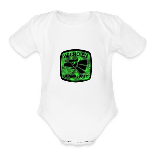Guanajuato logo - Organic Short Sleeve Baby Bodysuit