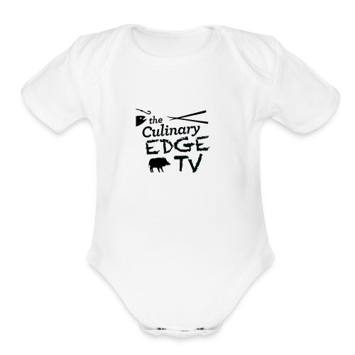 CETV Black Signature - Organic Short Sleeve Baby Bodysuit
