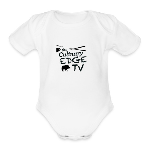 CETV Black Signature - Organic Short Sleeve Baby Bodysuit