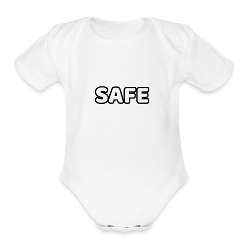 S.A.F.E. CLOTHING MAIN LOGO - Organic Short Sleeve Baby Bodysuit