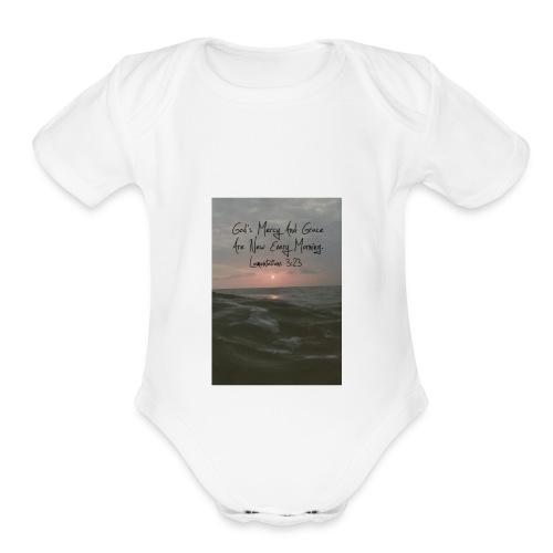gods grace - Organic Short Sleeve Baby Bodysuit