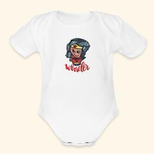 Wonder Hair - Short Sleeve Baby Bodysuit