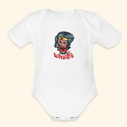Wonder Hair - Organic Short Sleeve Baby Bodysuit