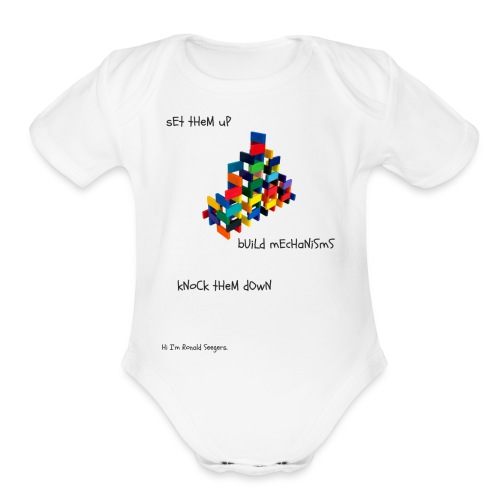 Hi I'm Ronald Seegers Collection-(transparent) - Organic Short Sleeve Baby Bodysuit
