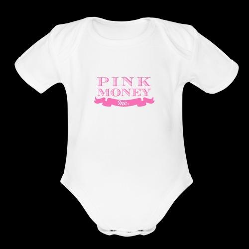 pink money official women empowerment female - Organic Short Sleeve Baby Bodysuit