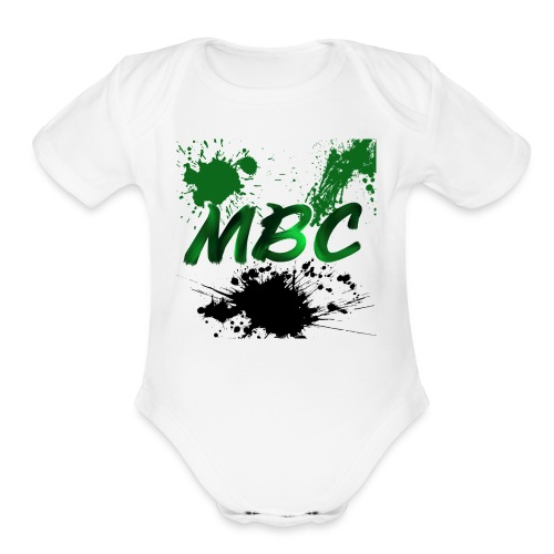 MinerBroConnor With Splatter - Organic Short Sleeve Baby Bodysuit