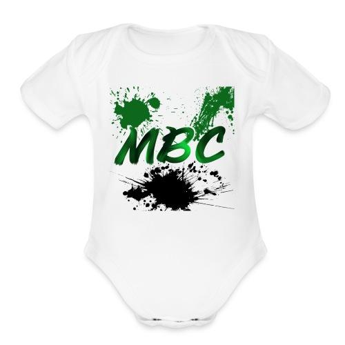 MinerBroConnor With Splatter - Organic Short Sleeve Baby Bodysuit