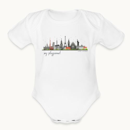 WORLD - MY PLAYGROUND - Carolyn Sandstrom - Organic Short Sleeve Baby Bodysuit