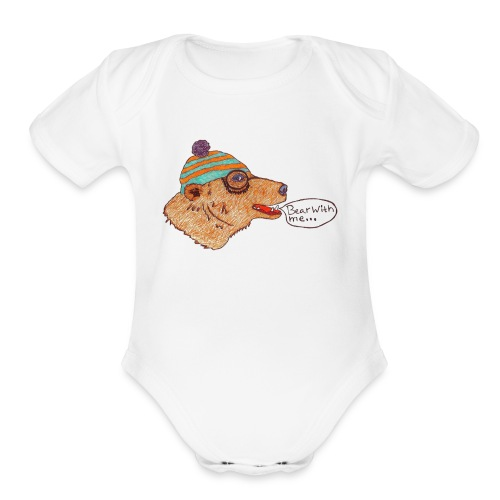 bear with me - Organic Short Sleeve Baby Bodysuit