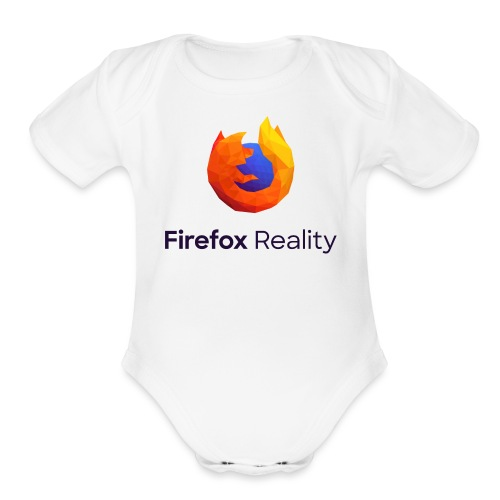 Firefox Reality - Transparent, Vertical, Dark Text - Organic Short Sleeve Baby Bodysuit