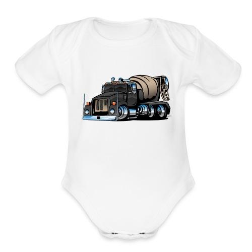 Cement Mixer Truck - Organic Short Sleeve Baby Bodysuit