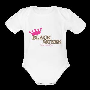 Black Queen - Short Sleeve Baby Bodysuit