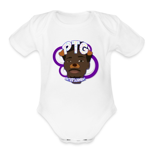 PTG Entertainment Logo - Organic Short Sleeve Baby Bodysuit