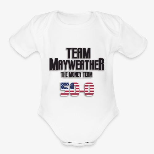 Team Mayweather 50-0 - Organic Short Sleeve Baby Bodysuit