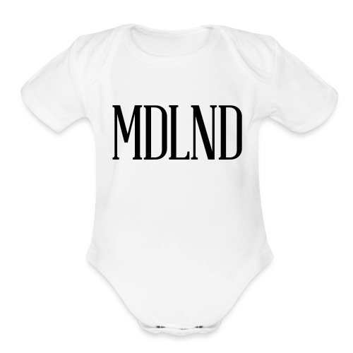 Original Logo Black - Organic Short Sleeve Baby Bodysuit