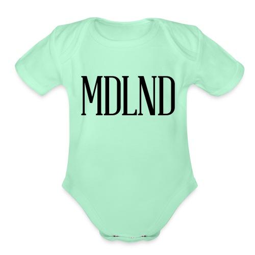Original Logo Black - Organic Short Sleeve Baby Bodysuit