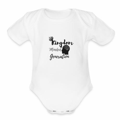 Kingdom minded generation - Organic Short Sleeve Baby Bodysuit