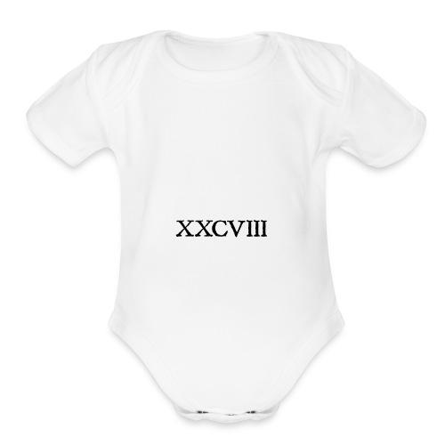 XXCVIII_ - Organic Short Sleeve Baby Bodysuit