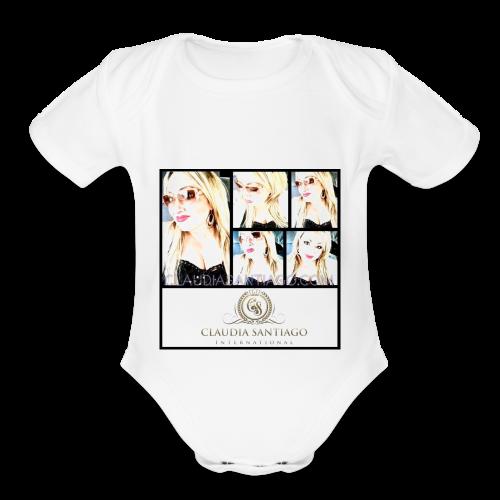 Claudia Santiago | www.ClaudiaSantiago.com - Organic Short Sleeve Baby Bodysuit
