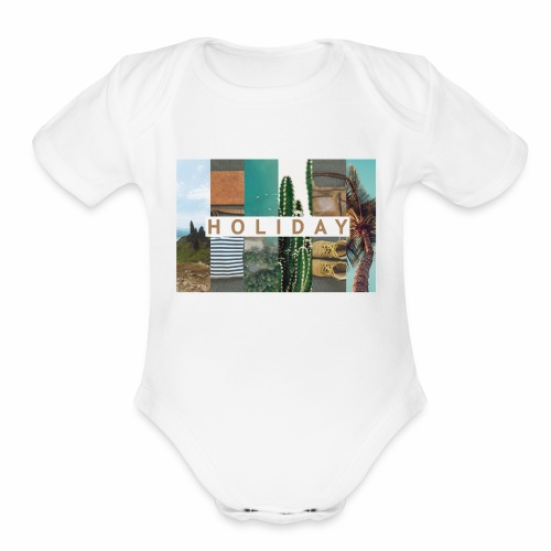 Holiday - Organic Short Sleeve Baby Bodysuit