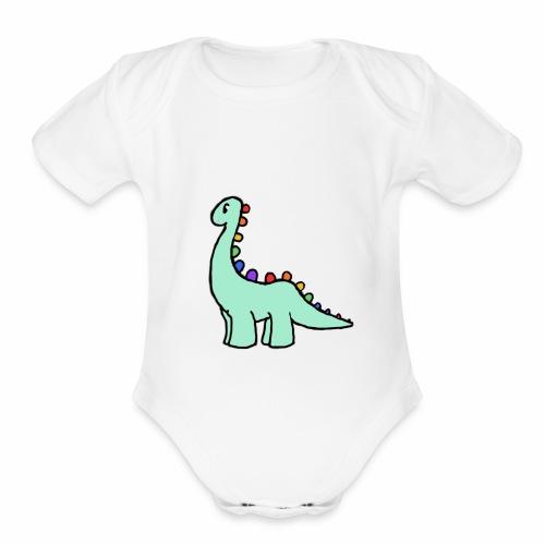 Stanley The Good Dino - Organic Short Sleeve Baby Bodysuit