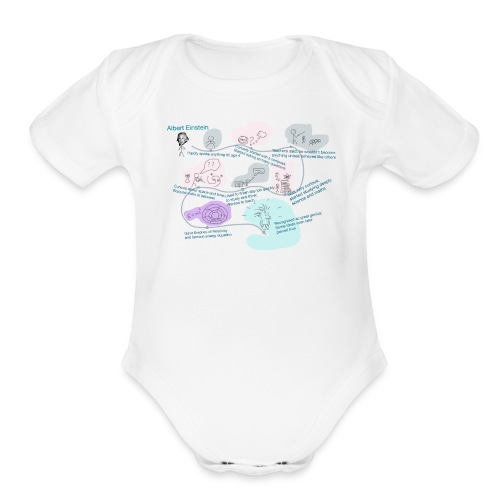 Awesome Einstein - Organic Short Sleeve Baby Bodysuit