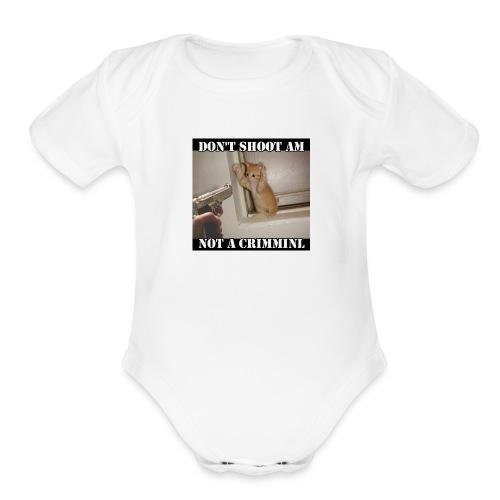 Don't shoot - Organic Short Sleeve Baby Bodysuit