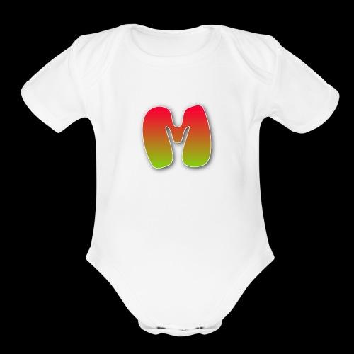 Monster logo shirt - Organic Short Sleeve Baby Bodysuit