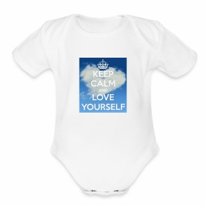 Keep calm and love yourself - Short Sleeve Baby Bodysuit