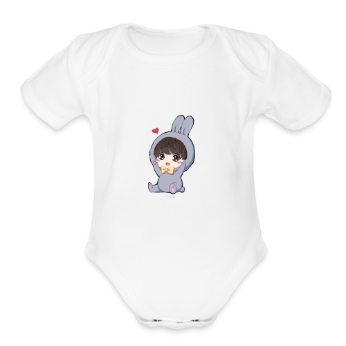 Jungkookie - Organic Short Sleeve Baby Bodysuit