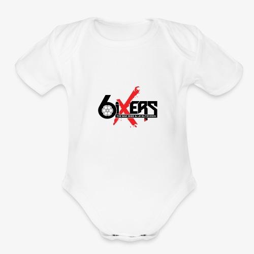 6ixersLogo - Organic Short Sleeve Baby Bodysuit