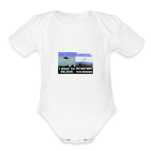 tshirt i want to believe - Organic Short Sleeve Baby Bodysuit