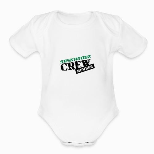 saskhoodz crew - Organic Short Sleeve Baby Bodysuit