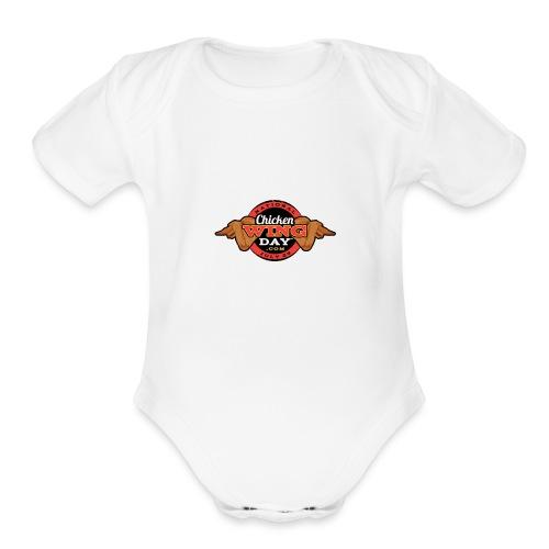 Chicken Wing Day - Organic Short Sleeve Baby Bodysuit