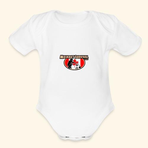 Muskrat Badge 2019 - Organic Short Sleeve Baby Bodysuit