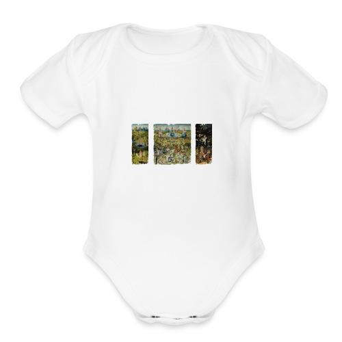 Garden Of Earthly Delights - Organic Short Sleeve Baby Bodysuit