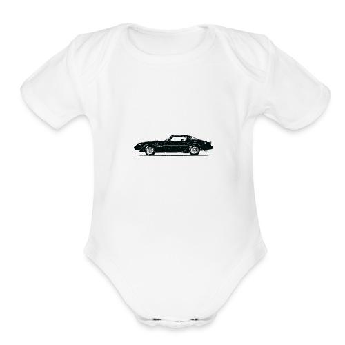 classic car grungy tshirt 01 - Organic Short Sleeve Baby Bodysuit