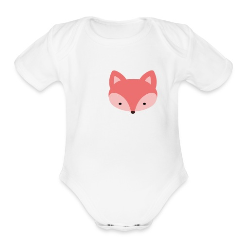 Fox Gift Logo - Organic Short Sleeve Baby Bodysuit