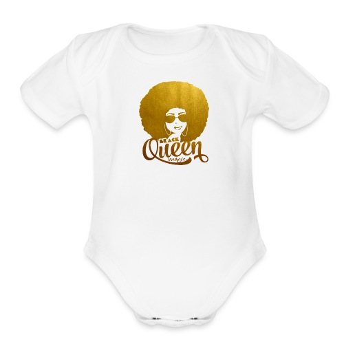 Black Queen - Organic Short Sleeve Baby Bodysuit