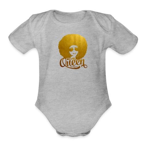 Black Queen - Organic Short Sleeve Baby Bodysuit
