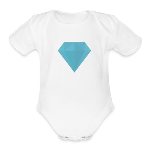 long sleeve Diamond shirt - Organic Short Sleeve Baby Bodysuit