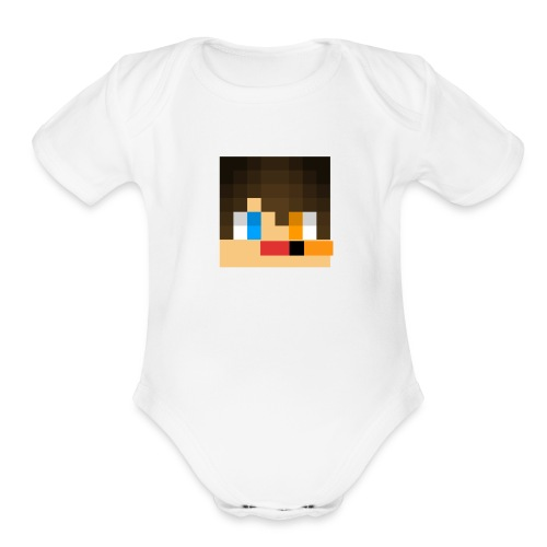 my skin face - Organic Short Sleeve Baby Bodysuit