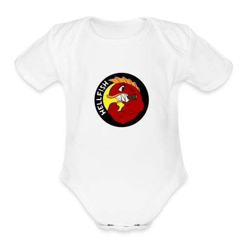 Hellfish - Flying Hellfish - Organic Short Sleeve Baby Bodysuit