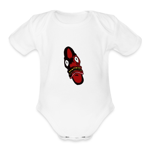 killer wiener - Organic Short Sleeve Baby Bodysuit