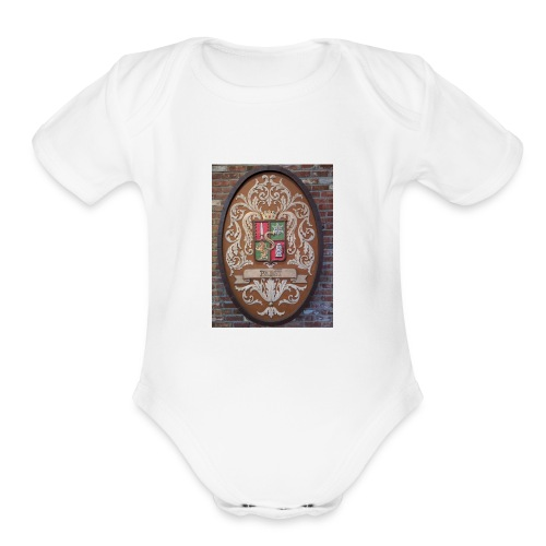 Pabst Crest - Organic Short Sleeve Baby Bodysuit