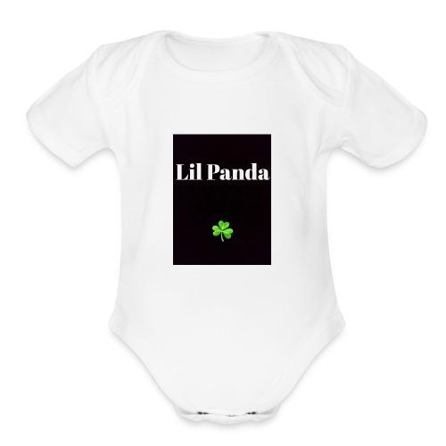 Lil Panda merch - Organic Short Sleeve Baby Bodysuit